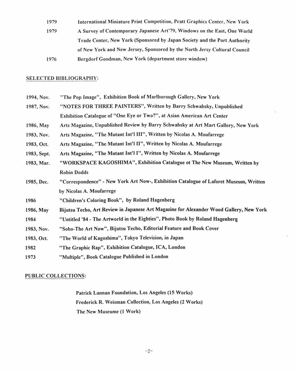 Rocky Kagoshima's Resume, pg 2